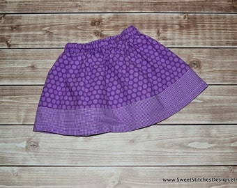 Purple Polka Dot Skirt Little Girl Skirt Boutique Toddler Twirl Skirt Purple Skirt for Toddler