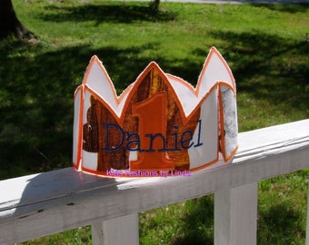 Brown Bear Brown Bear Crown with Number and Name