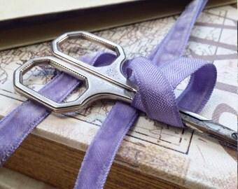 "3/8""  Vintage  Rayon Beautiful Lilac lavender purple Velvet Ribbon Trim"