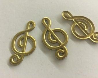 Vintage G-Cleff Music Symbol (2 pc)