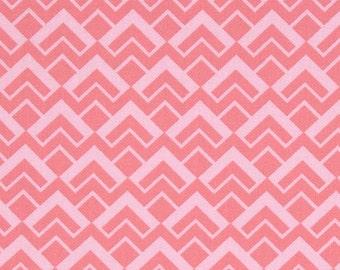 05065 -Camelot Fabrics Pastel me more Geo scales in geranium  color    - 1 yard