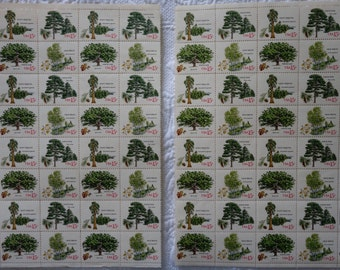 US Mint Never Hinged Postage Stamps Scott #1764- #1767 Trees 15c