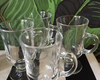 Portugal espresso cups with handles. Set of 4 glasses