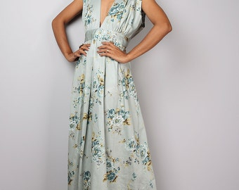 Floral Dress, Floral Maxi Dress, Bridesmaid Dress, Summer Dress, Boho Dress : Oriental Secrets Collection