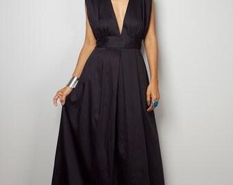 Black Maxi Dress - Long Formal black dress    : Oriental Secrets Collection II