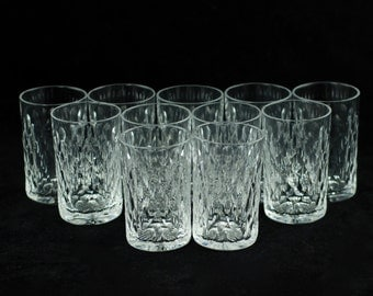 Antique Baccarat Clear Cut Crystal Boheme Form Goblets - Set of 11