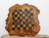 Personalized Olive Wood Chess Board, Wooden Chess Set Game, Dad gift, Grandad Gift / Christmas Gifts Idea
