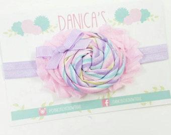 Easter headband, spring headband, pastel headband, baby headband, cute newborn headband, Infant, toddler, child, adult sizes