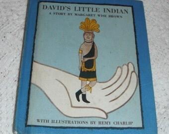 David's Little Indian Margaret Wise Brown Vintage Hardcover Book