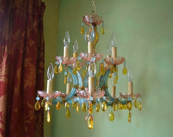 50% OFF - Featured in Romantic Homes Magazine! Chandelier Lighting, Crystal Gypsy, One of a Kind, Layaway Available