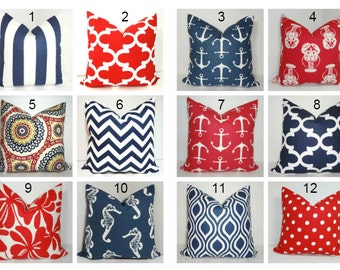 4th of July Red White & Blue Pillow Covers Patriotic Celebration Pillow Covers All Sizes