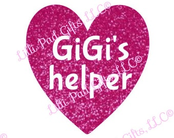 GiGi's Helper - Heart - Cut File - Instant Download - SVG Vector JPG for Cameo Silhouette Studio Software & other Cutter Machines