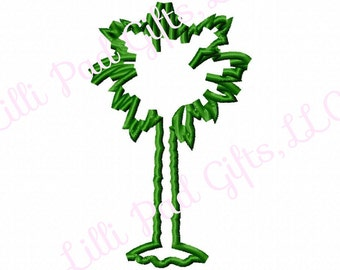 Spunky Palm Tree - Machine Embroidery Design - 5 Sizes