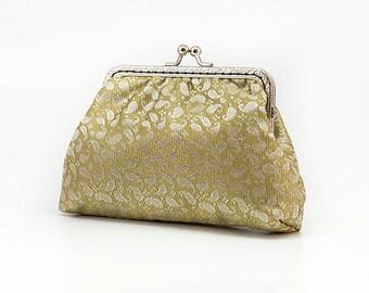 Golden Elegant Clutch Purse - Chic Bridesmaid Clutch Purse - Wedding Clutch Purse - Evening Clutch Purse