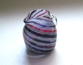 Small Pitcher - Ruby White Amethyst Stripe  :DISASTER RELIEF