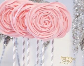 Meringue rosette pops 12x