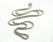Sterling Silver Rope Chain 30 Inch 3mm Necklace Vintage Silver Heavy Chain