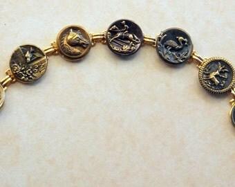 an antique button bracelet