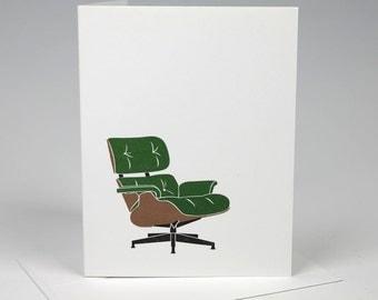 Eames Lounge Chair Letterpress Card