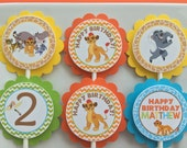 12 Lion Guard Birthday Party Cupcake Toppers