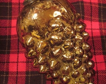 "Kugel Glass Ornament Huge 9"" Reproduction"