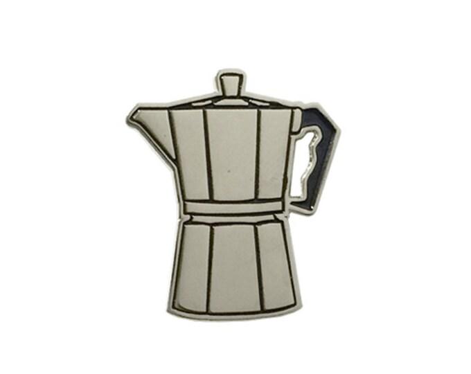 Coffee Moka Pot Enamel Lapel Pin