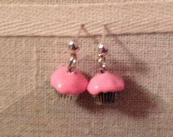Handmade cupcake earrings