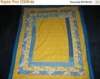 Summer Sale Handmade Log Cabin Style Quilt w/ Fleece