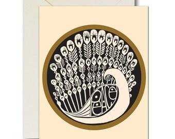 Peacefowl Card in Neutral