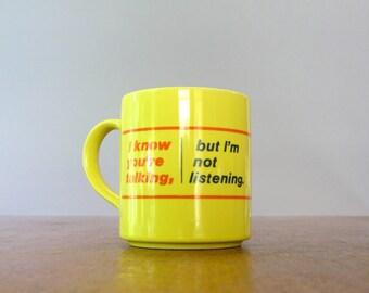 Vintage Snarky Mug / Cup Mt Clemens Pottery - Novelty Office
