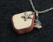 Rustic Beach Pottery Pendant. Simple and Stunning.
