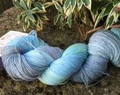"100grms hand painted merino/nylon yarn "" Frosty morning """