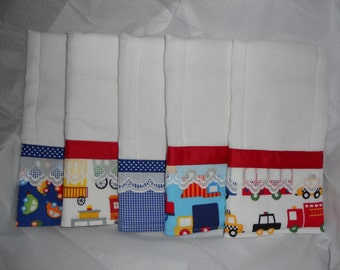 Burp Cloths Set, On the Road