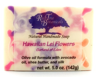 SOAP– Hawaiian Lei Flowers Artisan Cold Process Soap with Olive Oil