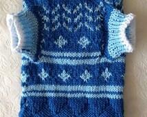 Handknitted cotton sweater for cat/pet clothing/handmade/ pet fashion/handmade
