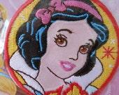 Iron-on Snow White Applique Embroidered Patch Disney Princess