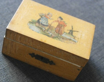 antique wood money box