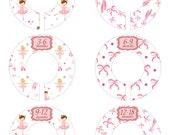 Ballerina Closet Dividers, Baby Closet Labels, Pink Closet Rack Dividers, Ballet Closet Organizers, Closet Rod Dividers #702 C