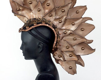 Mohawk Headdress Headpiece in Copper