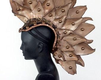 Mohawk Headdress Headpiece in Copper