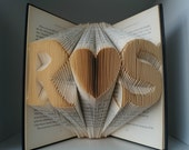 Folded Book Art-Gift for love ones-Regalo di nozze-Paper Anniversary-wedding decor-gift wrapped