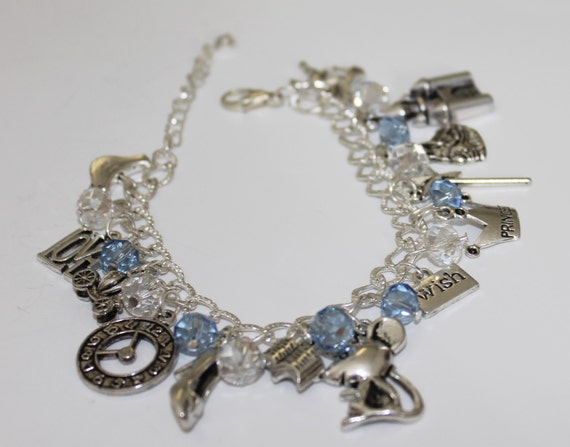 items similar to cinderella inspired charm bracelet