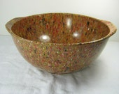 Vintage CONFETTI MELMAC BOWL Serving Speckled Spatter Mixing Plastic Nonbreakable