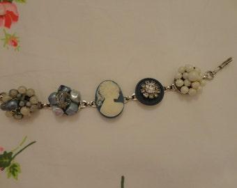 Cameo and Vintage Earrings Bracelet