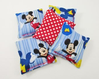 Mickey Mouse Clubhouse  Party Game - Mickey Mouse Clubhouse Birthday Party Favor -  Mickey Mouse Licensed Fabric -Mickey Mouse Bean Bag Game