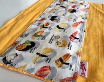 Kan Pai, Sushi, Sunshine Orange, Burp Cloth