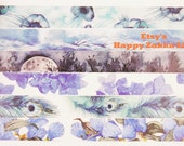 Seasons' Color - Vol. 1 - Japanese Washi Masking Tape - 7.6 Yards - 6 Designs for choice