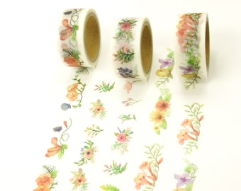 Sweet Smell Flower - Japanese Washi Masking Tape - 20mm Wide - 5.5 Yards - 1 roll