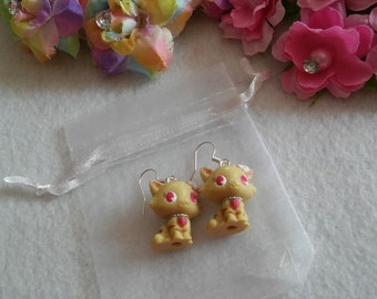 Pair of Yellow Cat Earrings