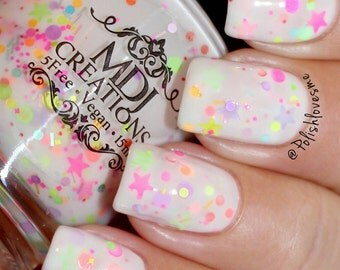 New! Life Of The Party ~ crellie glitter Indie Nail Polish by MDJ Creations